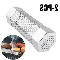 "Xelparuc 2pcs Pellet Smoker Tube, 6"" Length Hexagon Shape Pe"