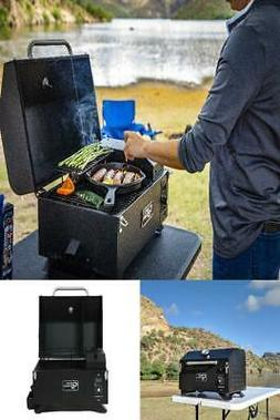 Portable Wood Pellet Grill Country Smokers Outdoors Tailgati