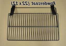 22x12 Powder coated Folding Front Shelf for Pellet Grill,Tra