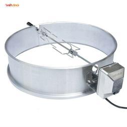 """Onlyfire Stainless Steel Rotisserie Ring Kit 21.5- 22.5"""" Cha"""