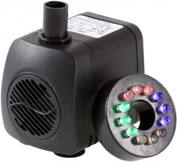 Submersible Water Pump With 12 Colorful Led Light For Aquari