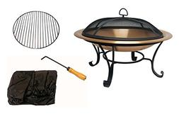 Venice Copper Finish Fire Pit with FREE Cover
