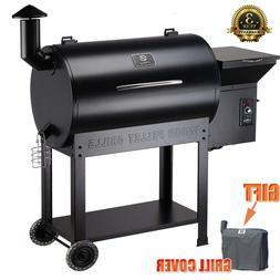 Z GRILLS ZPG-7002B Wood Pellet Grill& BBQ Smoker Digital Con