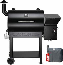 Z-grills Wood Pellet BBQ Grill and Smoker with Digital Tempe