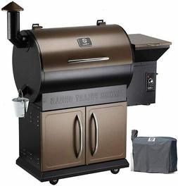 Z Grills Wood Pellet Grill Smoker 700E Cooking Area 8- in-1