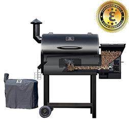 Z GRILLS Wood Pellet Grill & Smoker 7 in 1 Electric BBQ Gril