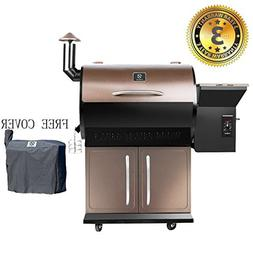 Z GRILLS Wood Pellet Grill Smoker 700 Cooking Area 6 in 1- E