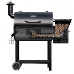 Z-grills Wood Pellet BBQ Grill and Smoker W/Digital Temperat